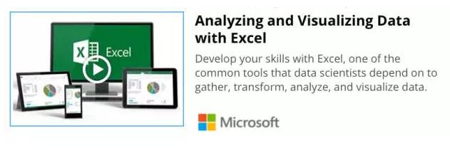 网课推荐:运用Excel进行数据分析与可视化