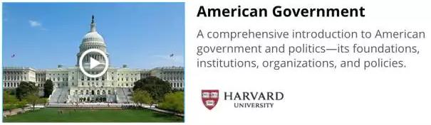 哈佛大学网课推荐:美国政府