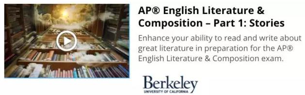 加州伯克利分校三门网课推荐:英语文学与写作