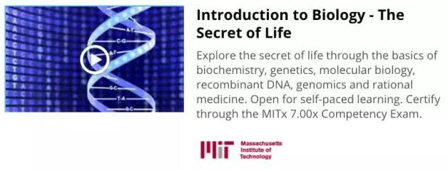 麻省理工学院网课推荐:生物学导论——生命的秘密