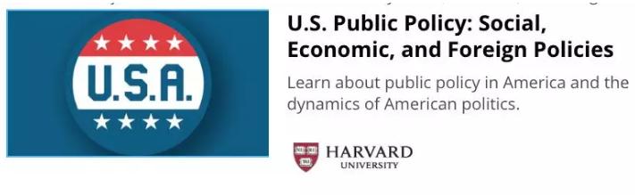 哈佛大学:美国公共政策——社会、经济与外交
